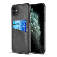 Duokase Executive Leather-Style Wallet Case for iPhone 11 - Black