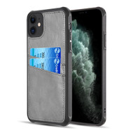 Duokase Executive Leather-Style Wallet Case for iPhone 11 - Grey