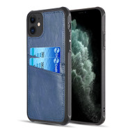 Duokase Executive Leather-Style Wallet Case for iPhone 11 - Navy Blue