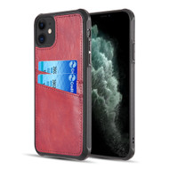 *Sale* Duokase Executive Leather-Style Wallet Case for iPhone 11 - Red