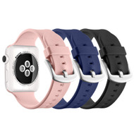 3-Pack Aluminum Buckle Silicone Band Strap for Apple Watch 44mm / 42mm