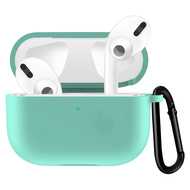 Silicone Protective Case with Carabiner Clip for Apple AirPods Pro - Teal