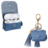 Leather Protective Case with Tassel Ornaments for Apple AirPods Pro - Marina Blue