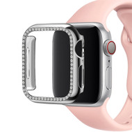 Diamond Series Electroplating Bumper Case for Apple Watch 44mm Series 5 / Series 4 - Silver
