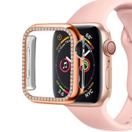 Diamond Series Electroplating Bumper Case for Apple Watch 44mm Series 5 / Series 4 - Rose Gold