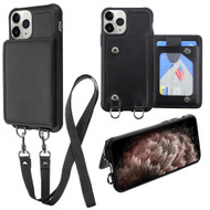 Suspend Wallet Case with Detachable Lanyard for iPhone 11 Pro Max - Black