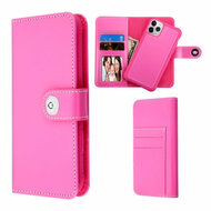 2-IN-1 Premium Leather Wallet with Removable Magnetic Case for iPhone 11 Pro Max - Hot Pink