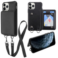 Suspend Wallet Case with Detachable Lanyard for iPhone 11 Pro - Black