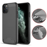 KardCase Hybrid Case with Card Compartment and Kickstand for iPhone 11 Pro Max - Black