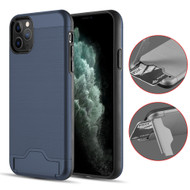 KardCase Hybrid Case with Card Compartment and Kickstand for iPhone 11 Pro - Navy Blue