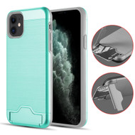 KardCase Hybrid Case with Card Compartment and Kickstand for iPhone 11 - Teal
