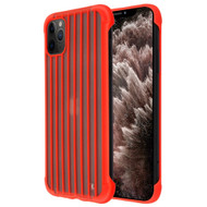 Suitcase Slim Frosty Semi Transparent Fusion Case for iPhone 11 Pro Max - Red