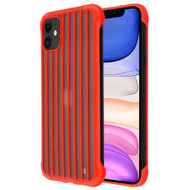 Suitcase Slim Frosty Semi Transparent Fusion Case for iPhone 11 - Red