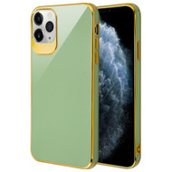Gloss Flexi Shield Gel Case for iPhone 11 Pro - Jade Green