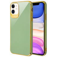 Gloss Flexi Shield Gel Case for iPhone 11 - Jade Green