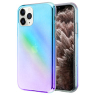 Iridescent Color Holographic Effect Transparent Fusion Case for iPhone 11 Pro Max