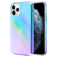Iridescent Color Holographic Effect Transparent Fusion Case for iPhone 11 Pro