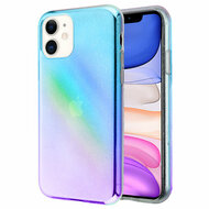 Iridescent Color Holographic Effect Transparent Fusion Case for iPhone 11