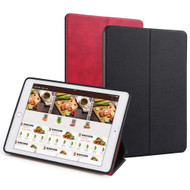 *Sale* Two-Sided Reversible Smart Leather Folio Case for iPad (2018/2017) / iPad Air 2 / iPad Air - Black Red