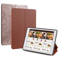 Two-Sided Reversible Smart Leather Folio Case for iPad (2018/2017) / iPad Air 2 / iPad Air - Brown Bronze