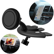 Universal Magnetic CD Slot Phone Mount Holder - Black