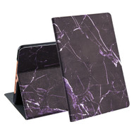 Marble Design Smart Folio Hybrid Case with Auto Sleep / Wake for iPad 9.7 (5th & 6th Generation) - Black