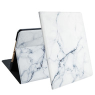 Marble Design Smart Folio Hybrid Case with Auto Sleep / Wake for iPad 9.7 (5th & 6th Generation) - White