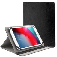 Universal Leather Folio Kickstand Case for 7-8 inch Tablets - Black