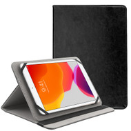 Universal Leather Folio Kickstand Case for 9-10 inch Tablets - Black