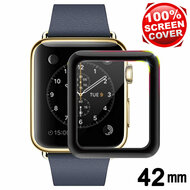 3D Carbon Fiber Full Coverage Soft Edge Tempered Glass Screen Protector for Apple Watch 42mm (Series 1, 2 & 3) - Black