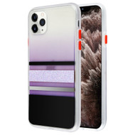 Sheer Glitter Transparent Case for iPhone 11 Pro Max - Black Silver