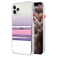 Sheer Glitter Transparent Case for iPhone 11 Pro Max - White Pink