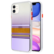 *Sale* Sheer Glitter Transparent Case for iPhone 11 - Purple Gold