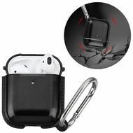 *Sale* Metallic Color TPE Protective Case with Carabiner Clip for Apple AirPods - Black