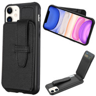 Buckle Loop Wallet Case for iPhone 11 - Black