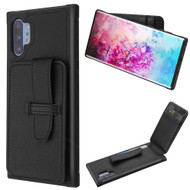 *Sale* Buckle Loop Wallet Case for Samsung Galaxy Note 10 Plus - Black