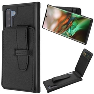 Buckle Loop Wallet Case for Samsung Galaxy Note 10 - Black