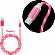 Flowing LED Lights USB-C (Type-C) Charge and Sync USB Data Cable - Red