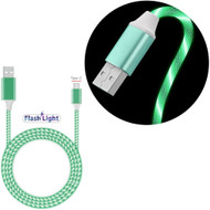 Flowing LED Lights USB-C (Type-C) Charge and Sync USB Data Cable - Green