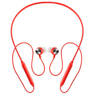 Flex Extreme Sport Bluetooth V5.0 Wireless Neckband Magnetic Earphones - Red