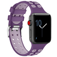 Rugged Sport Band Watch Strap for Apple Watch 44mm / 42mm - Purple