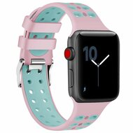 *Sale* Rugged Sport Band Watch Strap for Apple Watch 44mm / 42mm - Pink Baby Blue