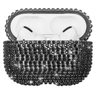 Diamond Encrusted Protective Case for Apple AirPods Pro - Black