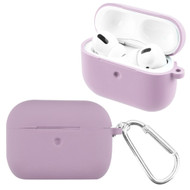 *Sale* Silicone Protective Case with Detachable Carabiner Clip for Apple AirPods Pro - Purple