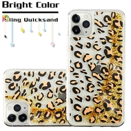 Quicksand Glitter Transparent Case for iPhone 11 Pro Max - Leopard