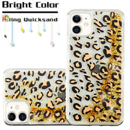 Quicksand Glitter Transparent Case for iPhone 11 - Leopard