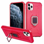 *Sale* Carbon Fiber TPE Case with 360° Rotating Ring Holder for iPhone 11 Pro - Red