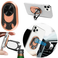 4-IN-1 Smart Loop Universal Smartphone Ring Holder / Stand / Car Mount / Bottle Opener - Rose Gold