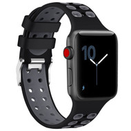 Rugged Sport Band Watch Strap for Apple Watch 40mm / 38mm - Black Grey