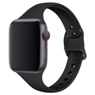 Slim Band Design Silicone Watch Strap for Apple Watch 40mm / 38mm - Black